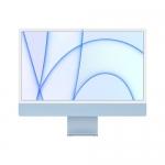 "Apple pc imac 24"" blue with retina 4,5k, apple m1 chip with 8 core cpu + 8 core gpu, 8gb 256gb"