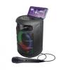 Cassa diffusore amplificato vortex 4 150w pmpo ricaricabile - con radiomicrofono