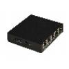 Hub switch 4 porte poe 10/100 + 1p uplink 15,4w/porta link