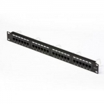 "Patch panel 24 porte rj45 u/utp cat.5e rack 19"" digitus nero"