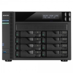 ASUS AS6208T NAS Collegamento ethernet LAN Nero
