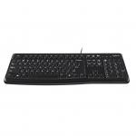 Tastiera logitech k120 usb black layout querty us