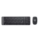 Kit tastiera e mouse wireless logitech mk220 black