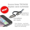 Cavo usb dati e ricarica x apple e micro usb 1mt luminoso tc-123