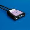 Kvm switch 2*pc 1*mouse 1*tast. usb 1*mon. vga con cavi autom.