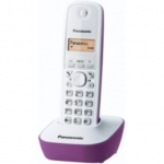 Telefono cordless dect panasonic kx-tg1611 bianco/lilla