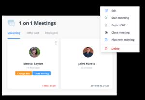 1 on 1 Metings Software - Agenda - HR app