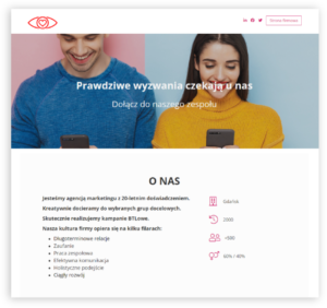 Employer Branding - Strona Kariera - System ATS