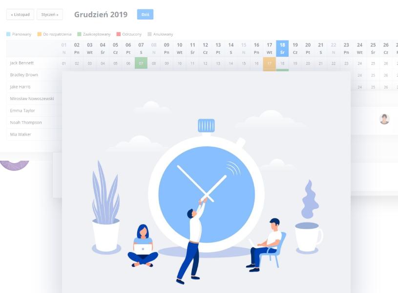 Rozliczanie godzinowe urlopów - platforma HR