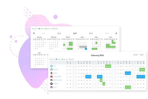 Firmowy kalendarz nieobecności - aplikacja urlopowa