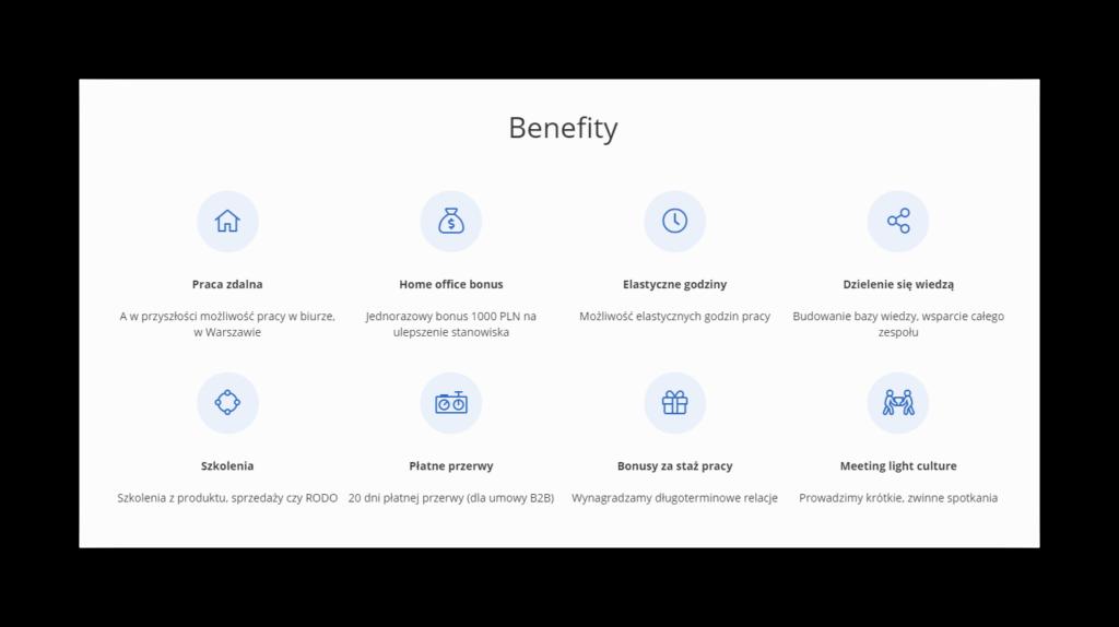 Benefity pracownicze - tomHRM
