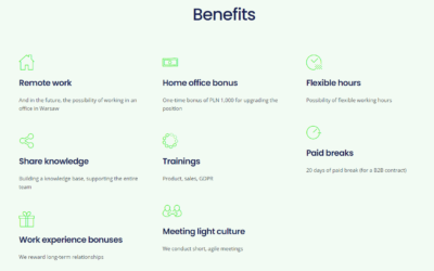 Benefits on Career Page - tomHRM ATS Software