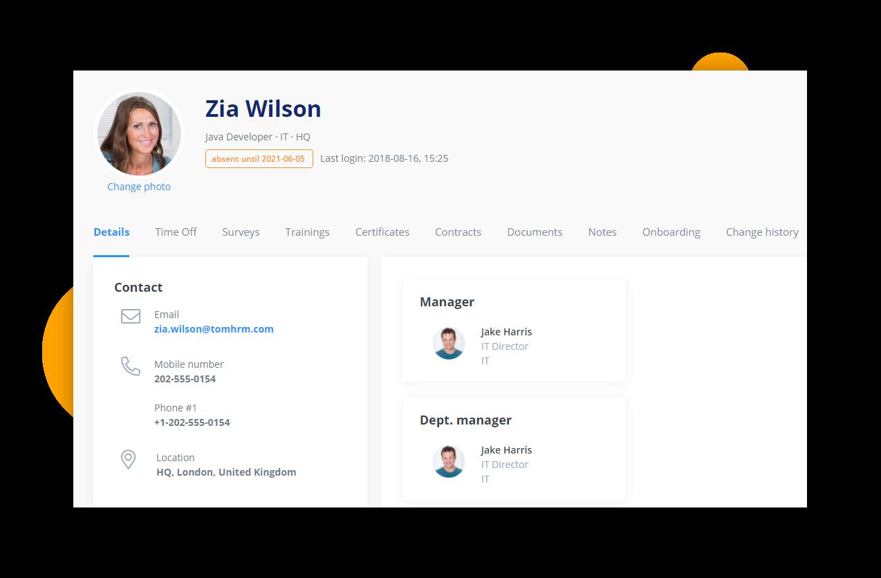 Employee profile - HR Software