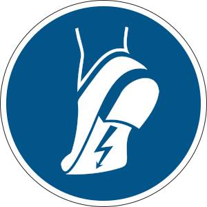Chaussures antistatiques obligatoires - rond de couleur bleu