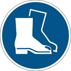 Chaussures de sécurité obligatoires - rond de couleur bleu