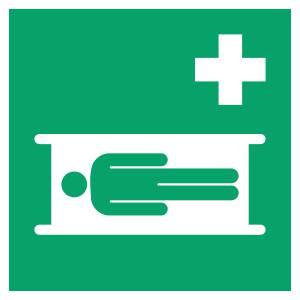 Civière - carré de couleur vert