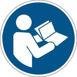 Consulter le manuel la notice d'instructions - rond de couleur bleu