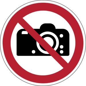 Défense de photographier - rond -  rouge