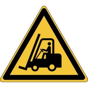 Danger - chariots élévateurs et autres véhicules industriels - triangle de couleur jaune