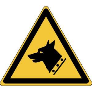 Danger - chien de garde - triangle de couleur jaune