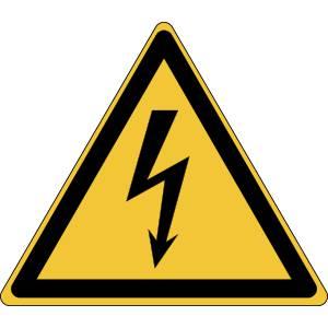 Danger - electricité - triangle de couleur jaune