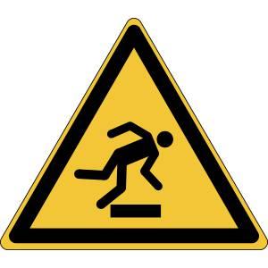 Danger - trébuchement - triangle de couleur jaune