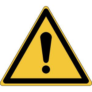 Danger général - triangle de couleur jaune