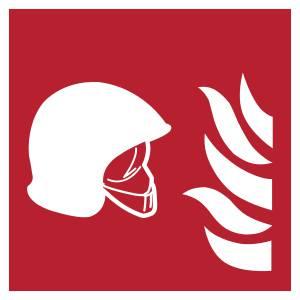 Ensemble d'équipements de lutte contre l'incendie 2 - carré de couleur rouge