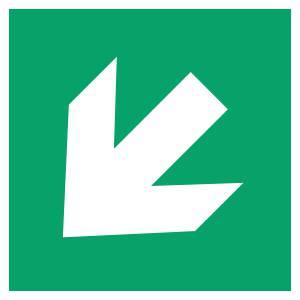 Flèche directionelle 45 - carré de couleur vert