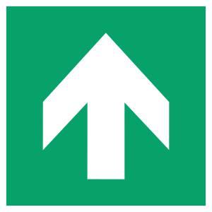 Flèche directionelle 90 - carré de couleur vert