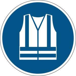 Gilet de sécurité haute visibilité obligatoire - rond de couleur bleu
