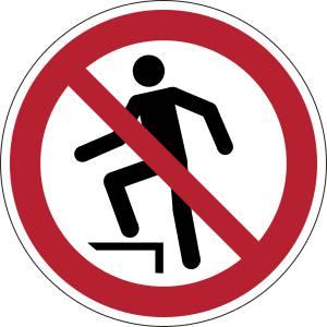 Interdiction de marcher sur la surface - rond -  rouge