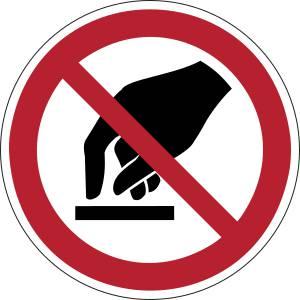 Interdiction de toucher - rond -  rouge