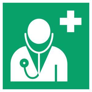 Médecin - carré de couleur vert