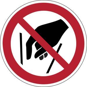 Ne pas mettre les mains - rond -  rouge