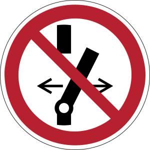 Ne pas modifier la position de linterrupteur - rond -  rouge