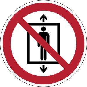 Ne pas utiliser cet ascenseur pour des personnes - rond -  rouge