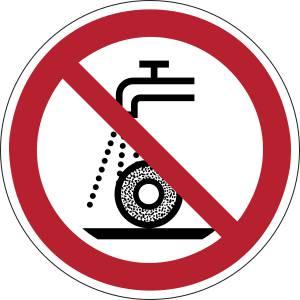 Ne pas utiliser pour la rectification humide - rond -  rouge