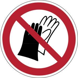 Port de gants interdit - rond -  rouge