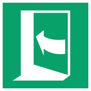Porte qui s'ouvre en poussant sur son côté gauche - carré de couleur vert