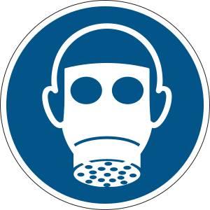 Protection des voies respiratoires obligatoire - rond -  bleu