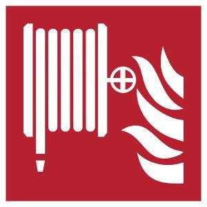Robinet d'incendie armé format carre color rouge - carré de couleur rouge