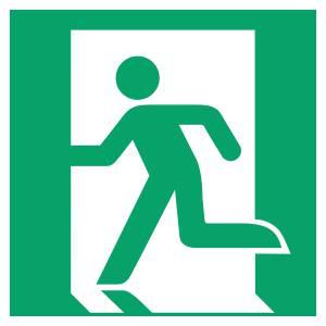 Sortie de secours gauche - carré de couleur vert