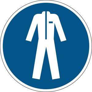 Vêtements de protection obligatoires - rond de couleur bleu