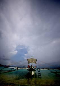 Bateau sur mer calme