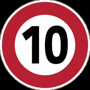 Limitation de vitesse à 10 km/h