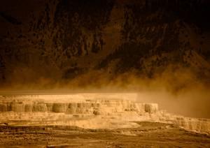 Formation rocheuse dans paysage désertique