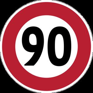 Limitation de vitesse à 90 km/h