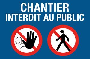 Chantier interdit au public - picto - bleu