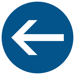 Obligation de tourner à gauche avant le panneau